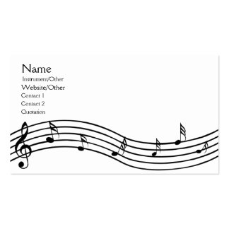 Music Notes Pack Of Standard Business Cards
