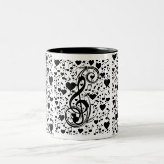 Music of the heart_ Two-Tone mug