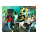 """Music Painting """"New Orleans Jazz"""" Postcard"""