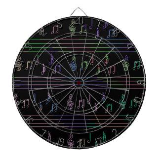 Music pattern dartboard