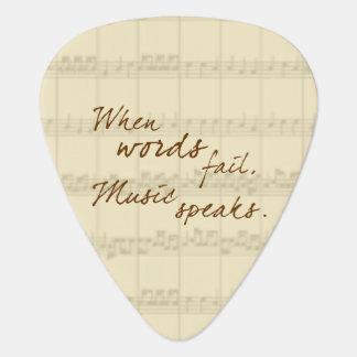 Music Speaks Plectrum