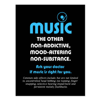 Music: The other non-addictive, mood-altering… Postcard