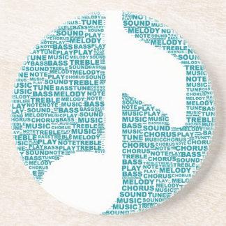 Musical Words Sandstone Coaster