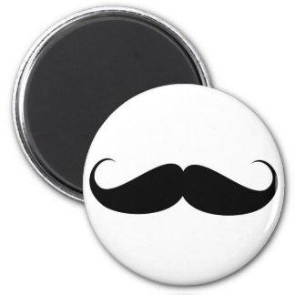 mustache vintage symbol funny moustache 6 cm round magnet