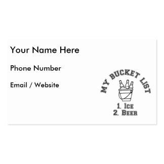 My Bucket List Humor - Ice & Beer Pack Of Standard Business Cards