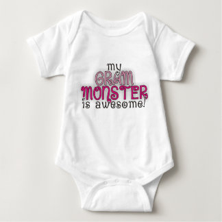 My Grandma Gram Monster is Awesome! Girl Onsie Shirt