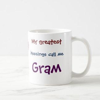 My Greatest Blessings Call Me Gram Coffee Mug