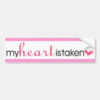 my heart is taken bumper sticker