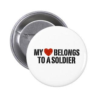 My Heart Soldier 6 Cm Round Badge