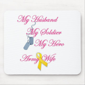 My Soldier Army Wife Mouse Pad