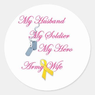 My Soldier Army Wife Round Sticker