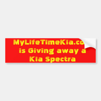 MyLifeTimeKia.com is Giving away a Kia Spectra Bumper Sticker
