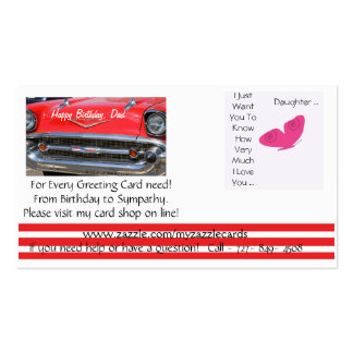 Myzazzlecards online greeting card shop. pack of standard business cards