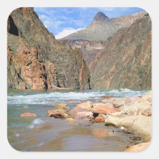 NA, USA, Arizona. Grand Canyon National Park. 2 Square Sticker