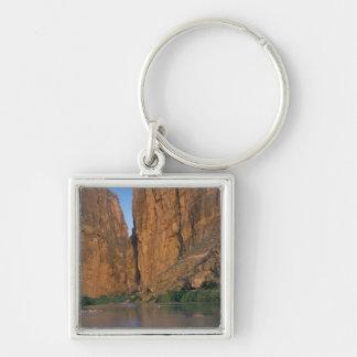 NA, USA, Texas, Big Bend National Park. Rio Silver-Colored Square Key Ring