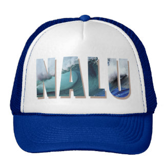 """Nalu"" Trucker cap with Hawaiian Wave Print"