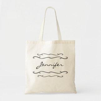 Name Template Tote Bag