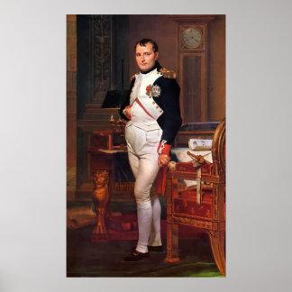 Napoleon Posing In His Study Poster