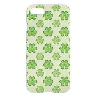 Nature Stylish Green Lucky Shamrock Clover Pattern iPhone 7 Case