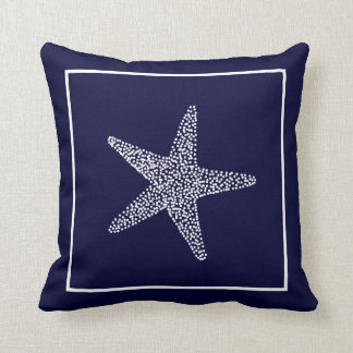Nautical Blue Starfish Throw Pillow CBendel Design Throw Cushions