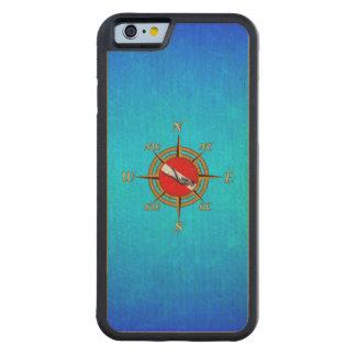 Nautical Dive Compass Maple iPhone 6 Bumper Case