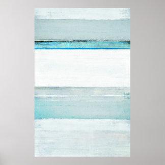 'Navigate' Blue Abstract Art Poster