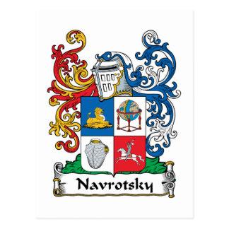 Navrotsky Family Crest Postcard