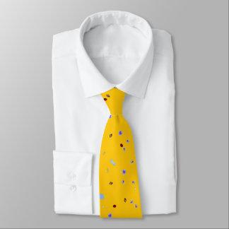 Neck Tie - Urine Particulates (yellow canvas)