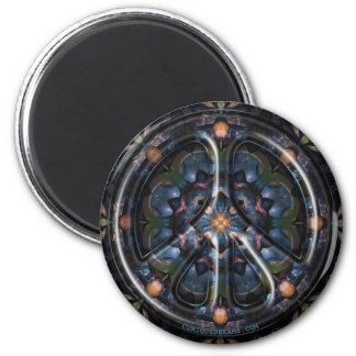 Nectarine Dreams Peace 6 Cm Round Magnet