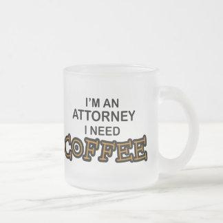 Need Coffee Frosted Glass Mug