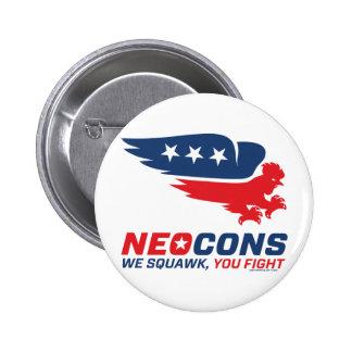Neocon Chickenhawk Logo 6 Cm Round Badge