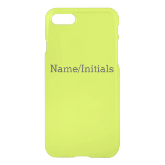 Neon Yellow, High Visibility Chartreuse iPhone 7 Case