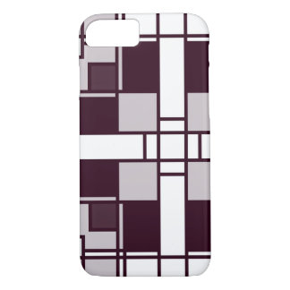 Neoplasticism symmetrical pattern in pinkish gray iPhone 7 case