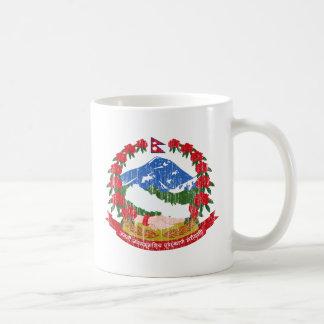 Nepal Coat Of Arms Basic White Mug