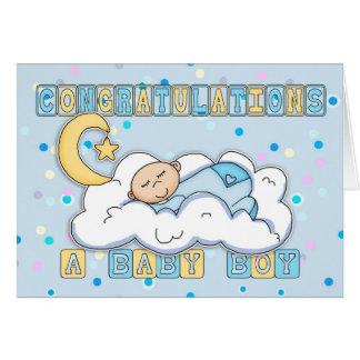 New Baby Boy Congratulations Greeting Card