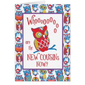New Cousins Congratulations, Cute Owls Greeting Card