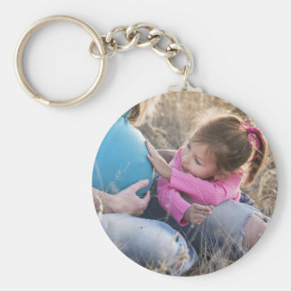 New Family Baby Basic Round Button Key Ring