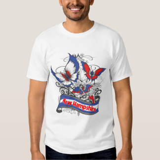 New Hampshire Patriotism Butterfly T-shirts