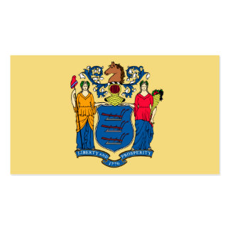 New Jersey State Flag Design Pack Of Standard Business Cards