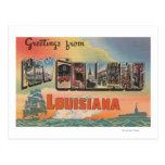 New Orleans, Louisiana - Large Letter Scenes Postcard