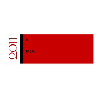New Year 2011 red black Gift Tag Business Card