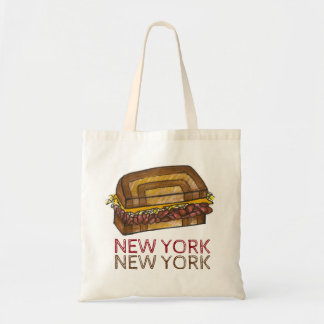 New York City NYC Deli Reuben Sandwich Food Tote Budget Tote Bag