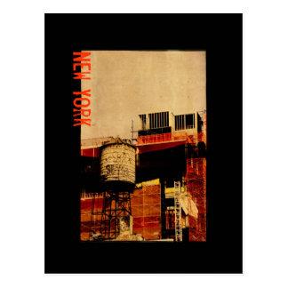 New York water tower postcard