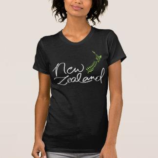 New Zealand Fern Map Dark T-Shirt 2