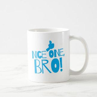 Nice one Bro! Kiwi New Zealand funny Basic White Mug