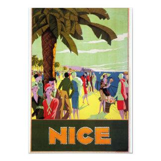 Nice vintage travel 13 cm x 18 cm invitation card