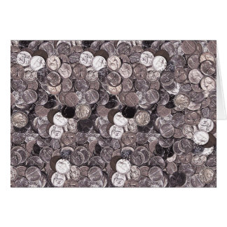 Nickel Coins Graphic Greeting Card