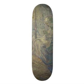 Night after Millet by Vincent Van Gogh Custom Skateboard