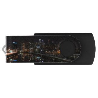 Night in Philly Swivel USB 2.0 Flash Drive