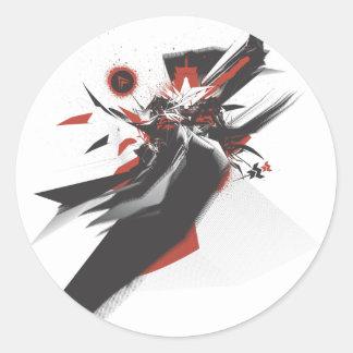 Nihonjin Design Round Sticker